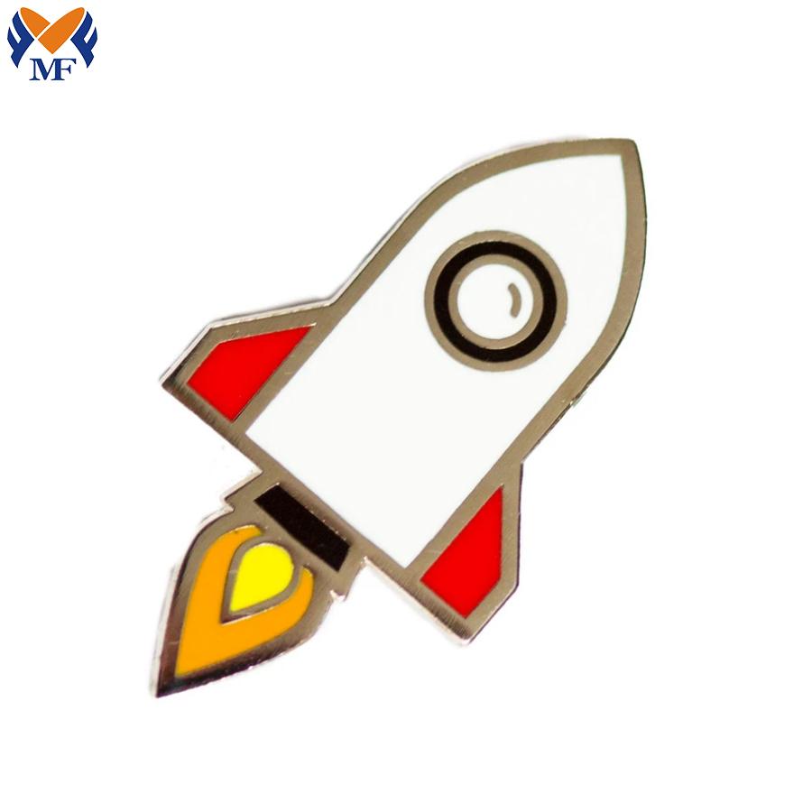 Enamel Rocketship Pin