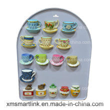Polyresin Souvenir Tea Cups Fridge Magnet Crafts