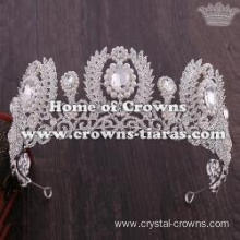 Wholesale Crystal Pearl Wedding Queen Tiaras