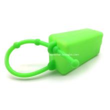 Titular de la caja de la cubierta de la botella del llavero del desinfectante de manos del silicón