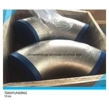 Cotovelo de tubulação de aço inoxidável sem emenda TP304 da solda da extremidade