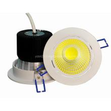 Novo Bridgelux 10W LED COB Down Luz 600lm Dia110 * H85mm