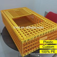 Cage de transport de poulet en plastique de prix usine
