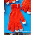 customize any colors printing 3 fingers touch screen gloves