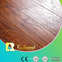 Household 8.3mm E1 HDF AC4 Embossed Elm V-Grooved Laminate Flooring