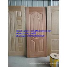 Pele de porta de molde HDF folheada