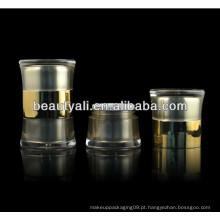 20g 50g rodada cintura duplo liner frasco de acrílico com duplo frasco