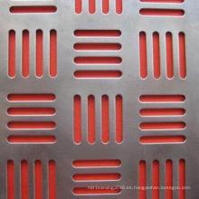 Malla de metal perforada en forma galvanizada