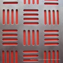 Malha de metal perfurada em forma de galvanizado