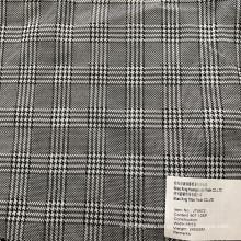 Black and White Stripes Checks 90T/10SP Plaid Fabric