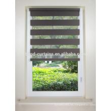 Hermosa persiana enrollable de ventana de cebra con fabrice blackout