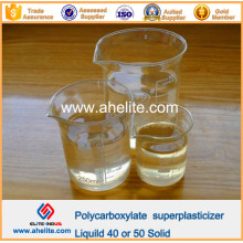 Additifs en béton Polycarboxylate Superplastifiant liquide 40% 50% solide