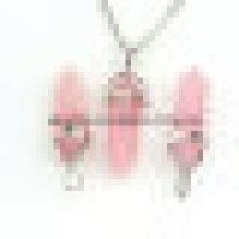Ensemble de bijoux à bijoux à grenailles en cristal naturel à la mode