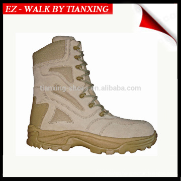 Desrt sueded leather military boots with light weight