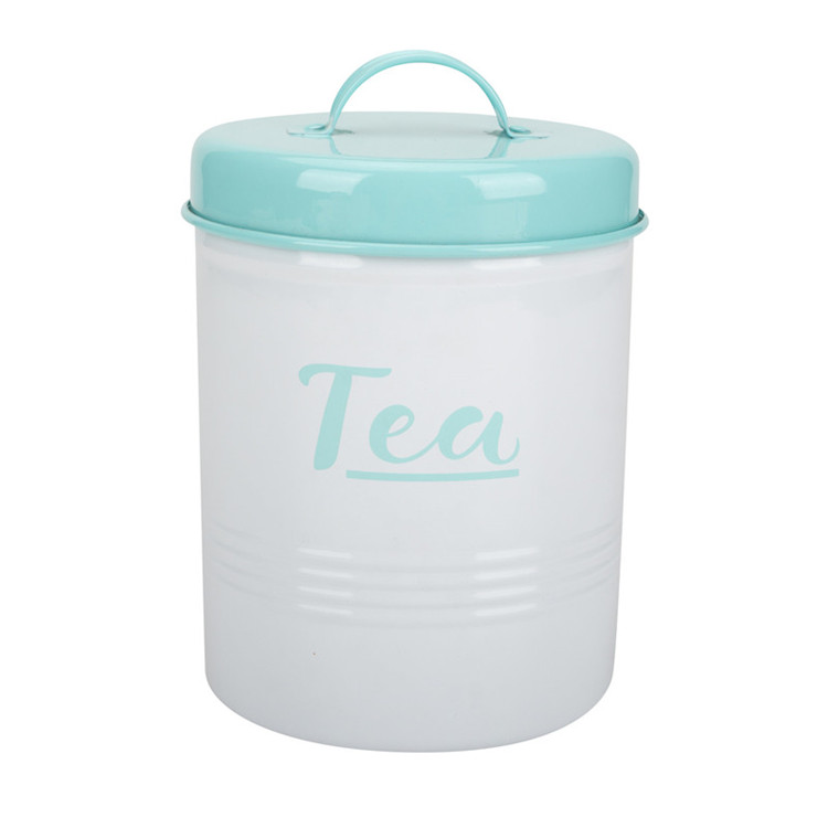 Color-Coated Steel Tea Canister
