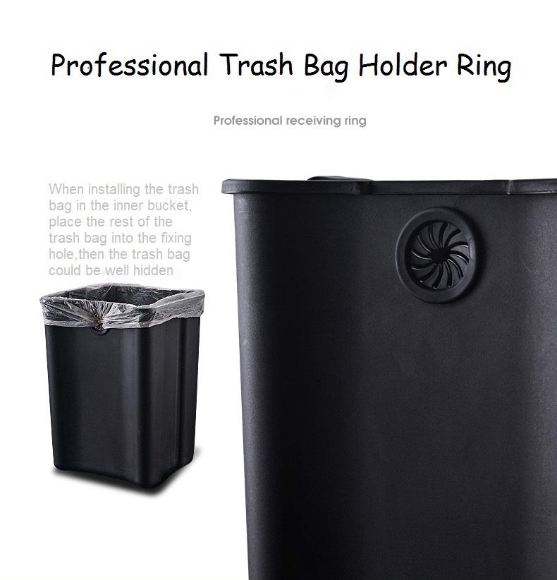 Rectangle sensor trash bin with inner bucket to place the trash bag