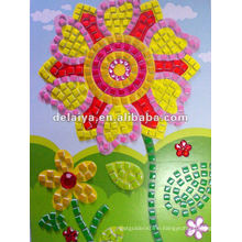 children diy mosaic crafts for flower