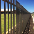 Industrial area PVC powder coated Iron fence