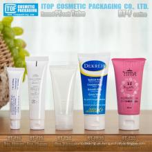 cosméticos do pe tubo de redondo de diâmetro 19mm a 35mm do tubo macio mais popular com tampa flip-top alta qualidade flexível