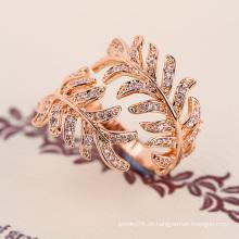 2016 trending Produkte Modeschmuck Zubehör Luxus Diamantring Gold Frauen Zubehör