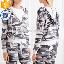 Ropa de las mujeres de la manera de la venta al por mayor de la fabricación del OEM / del ODM del estiramiento de la impresión del camuflaje (TA7023H)