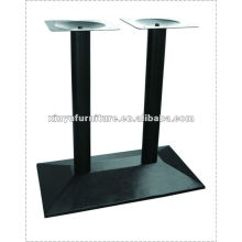 wrought iron double bar table base XT6977
