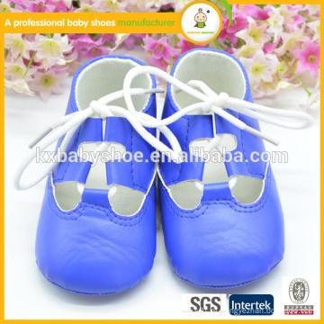 Moda sapatos de verão novo estilo barato bebê pu couro sapatos
