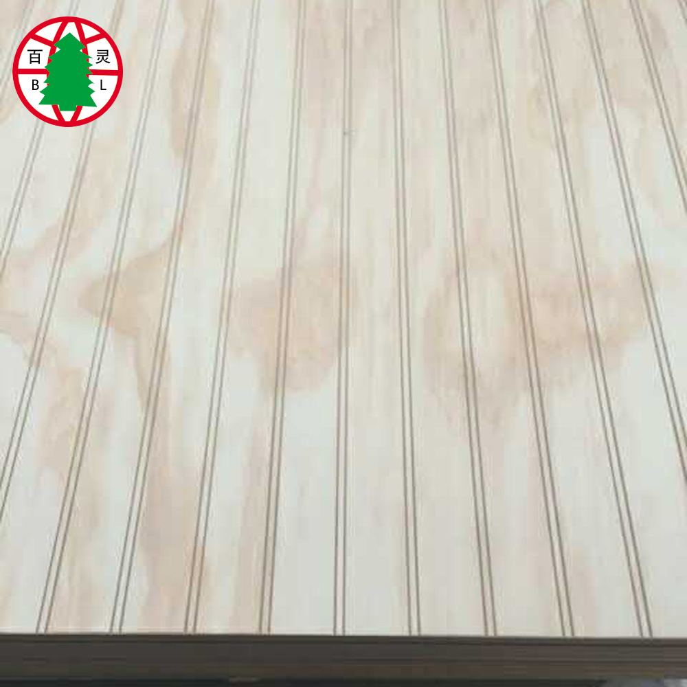 Pine Grooved Plywood with slot