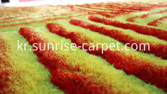 Polyester 3D Shaggy Rug Yellow Color