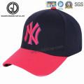 Os tampões superiores dos esportes do logotipo do bordado do painel da forma Ny 6 formam bonés de beisebol feitos sob encomenda da forma do logotipo