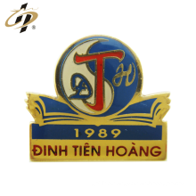 Promotional gift custom metal gold enamel epoxy lapel pin
