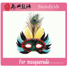 simple design funny wholesale birthday sale half face feather party masquerade masks bulk