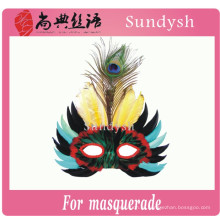 простой дизайн забавный оптовая продажа день рождения половина лица перо маскарад маски оптом