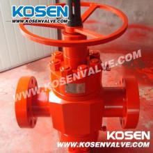 Válvula de porta do API 6A do equipamento do campo petrolífero com roda de mão