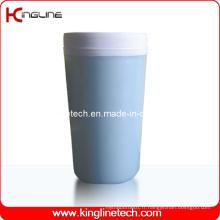 Couvercle en plastique à double couche en plastique de 300 ml (KL-5012)
