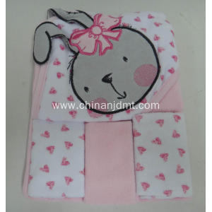 lOVELY PINK RABBIT TOWEL HOODED TOWEL