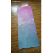 Thinest microfiber suede printed breathe rubber yoga mat exercise mat 3mm thick