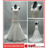 2014 Popular Mermaid Lace Keyhole Bridal Gown Wedding Dress (AS2662)
