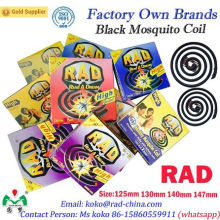 Rad Marca China Exportación Profesional Fabricante Proveedor Fábrica de alta calidad Negro Mosquito Coil Repelente Asesino