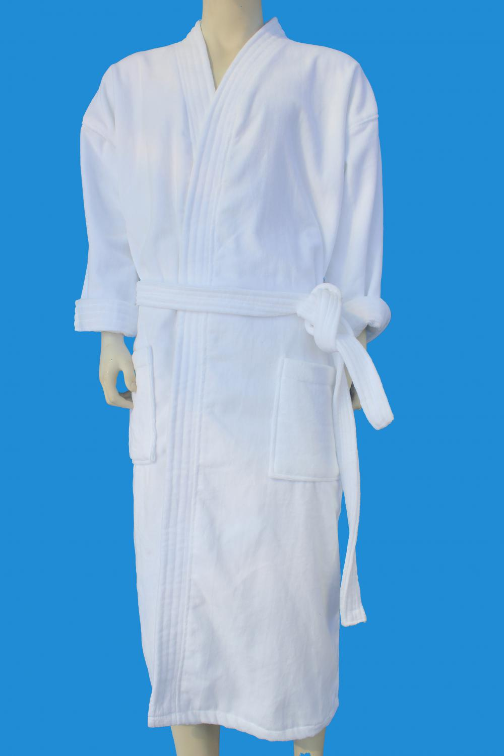 100%cotton velour kimono bathrobe