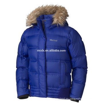 las muchachas calientes del invierno de la venta abajo chaqueta en azul