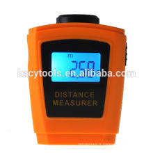 Mesureur de distance ultrasonique LCD à distance avec détecteur laser / mesure de distance à ultrasons