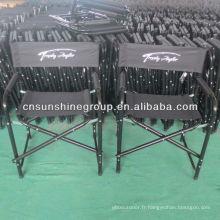 Le nouveau style chaise directeur pliante en métal
