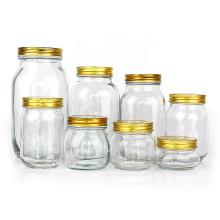 8 ounce 16 ounce 32 ounce 64ounce round glass mason jar glass canning jar with lid