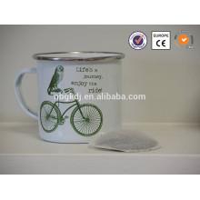 enamel drinkware joyshaker milk cup 500ml