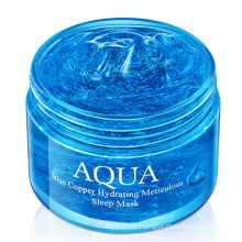 OEM Private Label Skin Care Product Blue Copper Peptide Hydrating Sleep Face Mask Sheet Moisturizing No-Clean Facial Mask