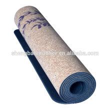 Amazon Top Seller fitness Eco Friendly Natural Rubber Cork Yoga Mat