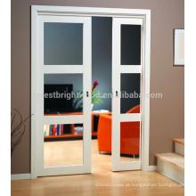 Boa aparência baixo preço porta de correr de madeira, porta de madeira maciça