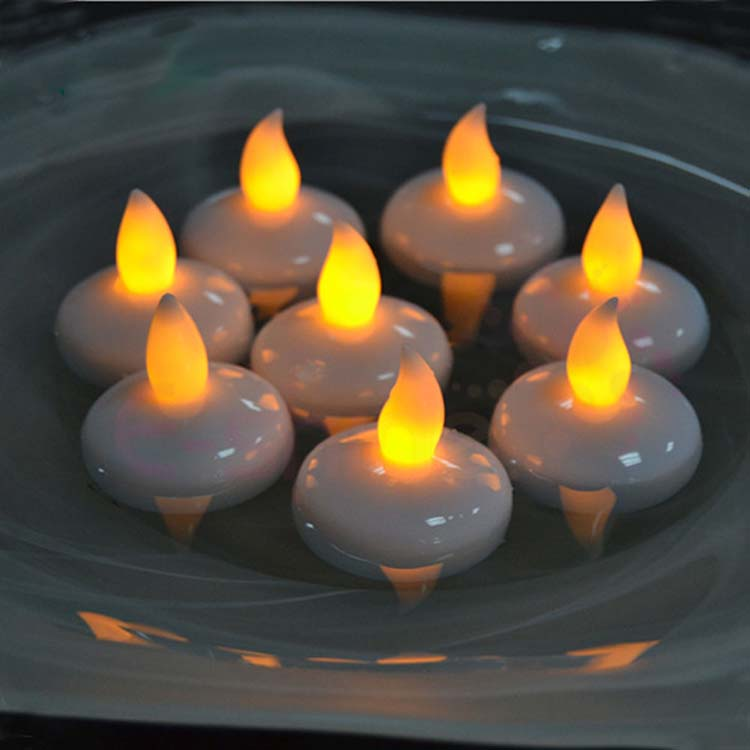 Led Floating Tea Waterproof Decoration Flameless Candles 8