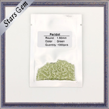 1,5 mm de tamaño pequeño, verde, natural, peridoto, piedras preciosas
